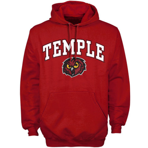 new product 8ddde c0815 Temple University Owls NCAA College Hooded Script Sweatshirt