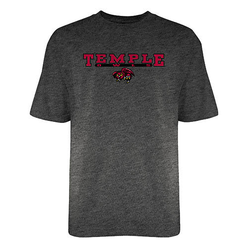 Temple University Owls Gray Script T-Shirt - Dynasty Sports & Framing