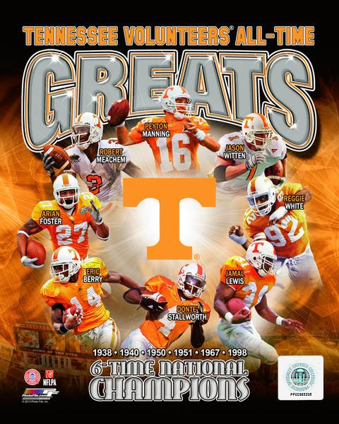 "Tennessee Volunteers All-Time Greats NCAA College Football 8"" x 10"" Photo"