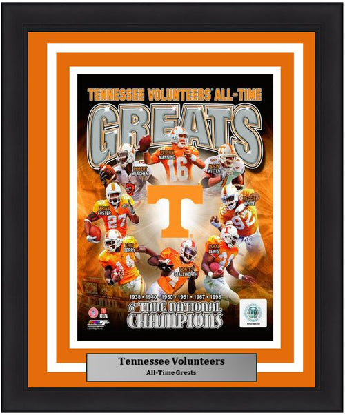 "Tennessee Volunteers All-Time Greats NCAA College Football 8"" x 10"" Framed and Matted Photo"