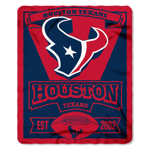 "Houston Texans NFL Football 50"" x 60"" Marquee Fleece Blanket"