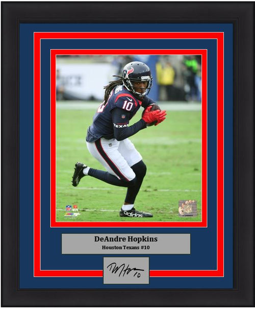 "DeAndre Hopkins Houston Texans NFL Football 8"" x 10"" Framed and Matted Photo with Engraved Autograph - Dynasty Sports & Framing"