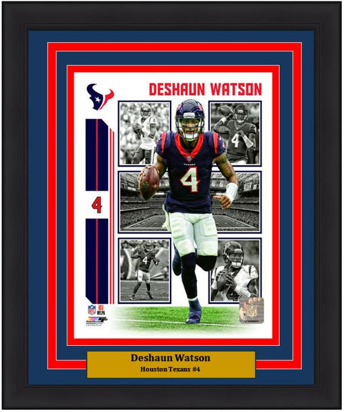 "Deshaun Watson Player Collage Houston Texans NFL Football 8"" x 10"" Framed and Matted Photo"