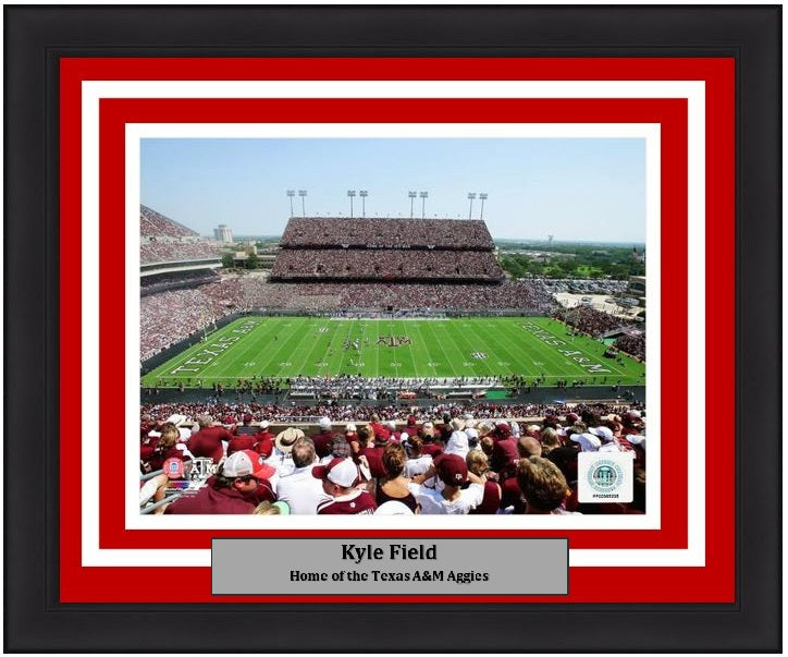 "Texas A&M Aggies Kyle Field NCAA College Football Stadium 8"" x 10"" Framed and Matted Photo - Dynasty Sports & Framing"