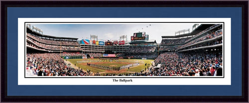 Texas Rangers The Ballpark Framed and Matted Stadium Panorama - Dynasty Sports & Framing