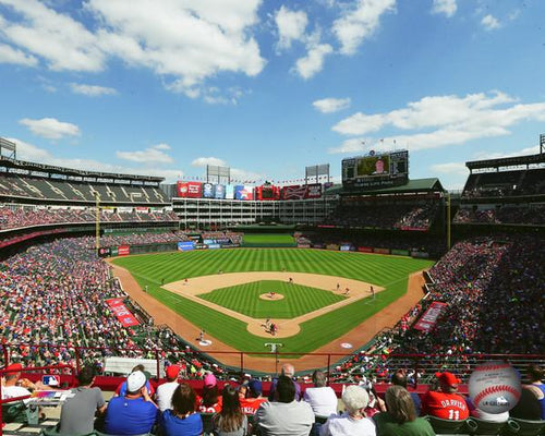 "Texas Rangers Globe Life Park at Arlington MLB Baseball 8"" x 10"" Stadium Photo"