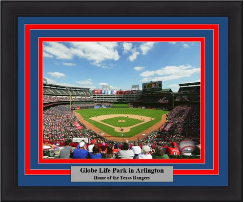 "Texas Rangers Globe Life Park at Arlington MLB Baseball 8"" x 10"" Framed and Matted Stadium Photo - Dynasty Sports & Framing"