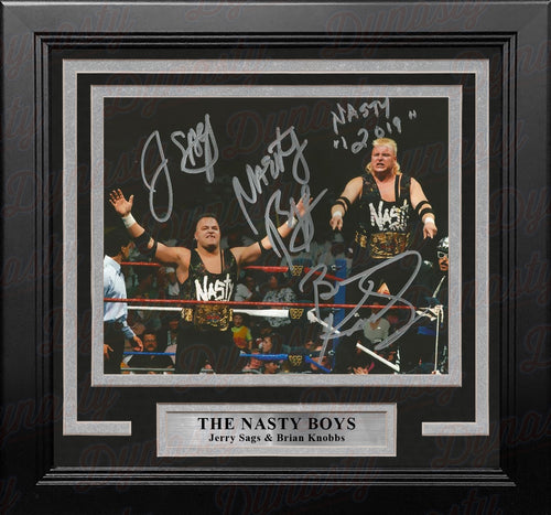 "The Nasty Boys WWE Tag Team Champions Autographed 8"" x 10"" Framed Wrestling Photo - Dynasty Sports & Framing"