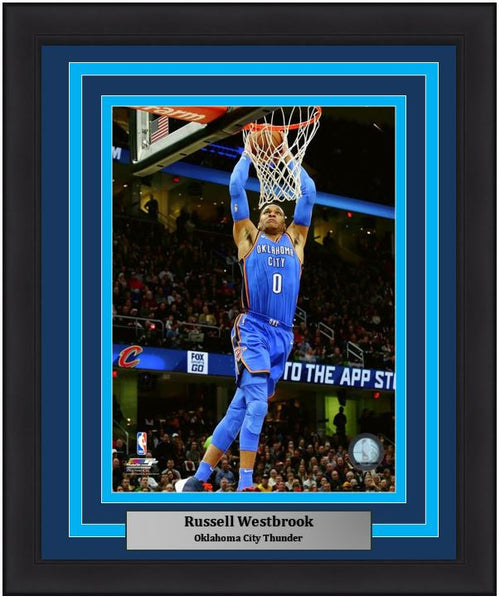"Oklahoma City Thunder Russell Westbrook NBA Basketball 8"" x 10"" Framed and Matted Photo"