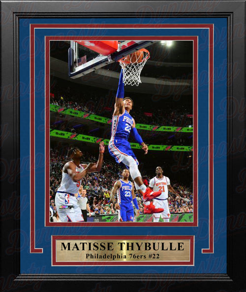 "Matisse Thybulle in Action Philadelphia 76ers NBA Basketball 8"" x 10"" Framed Photo"