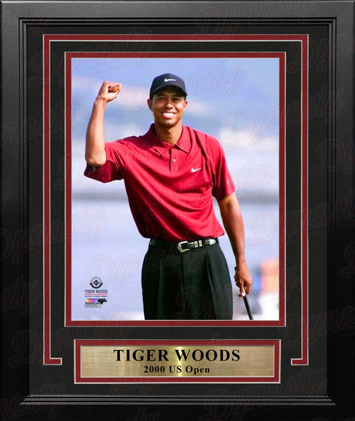 "Tiger Woods 2000 US Open 8"" x 10"" Framed Golf Photo - Dynasty Sports & Framing"