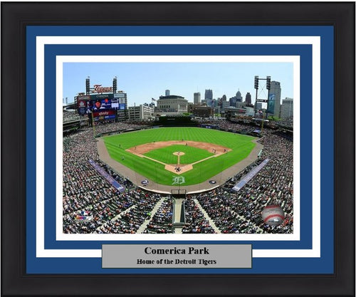"Detroit Tigers Comerica Park MLB Baseball 8"" x 10"" Stadium Framed and Matted Photo"