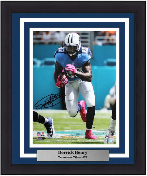 "Derrick Henry Tennessee Titans Autographed NFL Football 16"" x 20"" Framed and Matted Photo"
