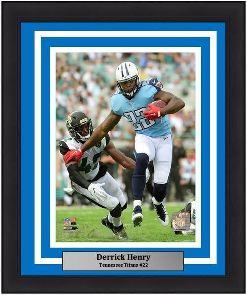 "Derrick Henry in Action Tennessee Titans 8"" x 10"" Framed Football Photo - Dynasty Sports & Framing"