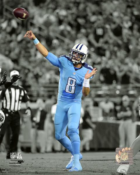 "Marcus Mariota Spotlight Action Tennessee Titans 8"" x 10"" Football Photo - Dynasty Sports & Framing"