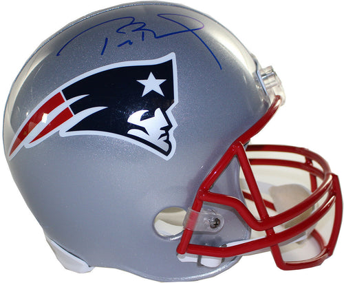 New England Patriots Tom Brady Signed Full Size Replica Helmet - Dynasty Sports & Framing