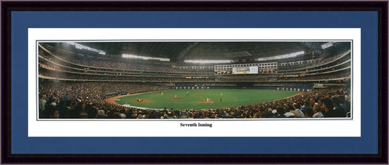 Toronto Blue Jays Seventh Inning Framed and Matted Stadium Panorama - Dynasty Sports & Framing