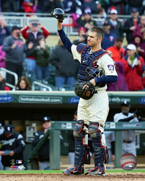 "Joe Mauer Final Game Minnesota Twins 8"" x 10"" Baseball Photo"