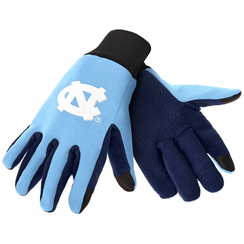 North Carolina Tar Heels NCAA College Texting Utility Gloves - Dynasty Sports & Framing