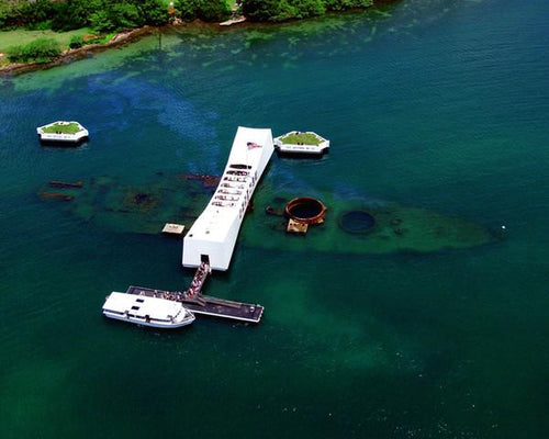 "USS Arizona Memorial at Pearl Harbor 8"" x 10"" Landmark Photo - Dynasty Sports & Framing"