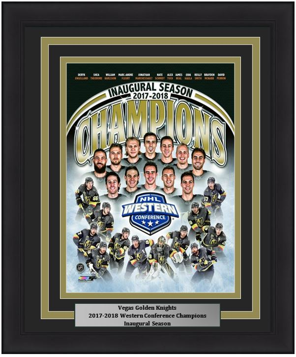 Golden Knights 2018 Western Conference Champions Collage 8x10 Nhl