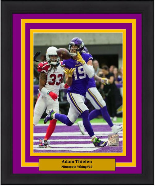 "Adam Thielen Touchdown Catch Minnesota Vikings 8"" x 10"" Framed Football Photo - Dynasty Sports & Framing"