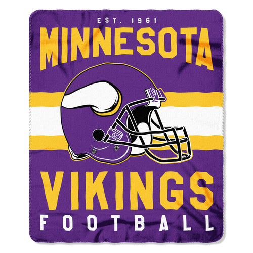 "Minnesota Vikings NFL Football 50"" x 60"" Singular Fleece Blanket"