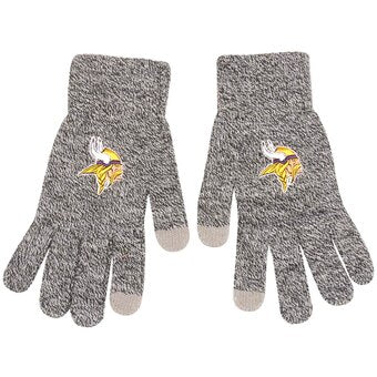 Minnesota Vikings Gray Knit Texting Gloves - Dynasty Sports & Framing