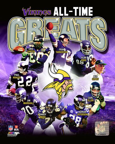 "Minnesota Vikings All-Time Greats NFL Football 8"" x 10"" Photo"