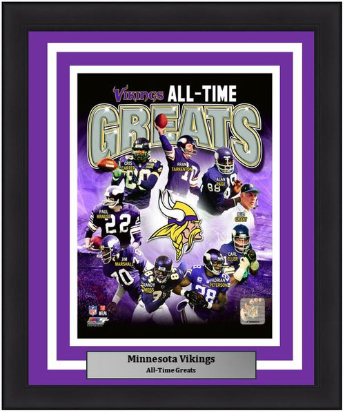 "Minnesota Vikings All-Time Greats NFL Football 8"" x 10"" Framed and Matted Photo"