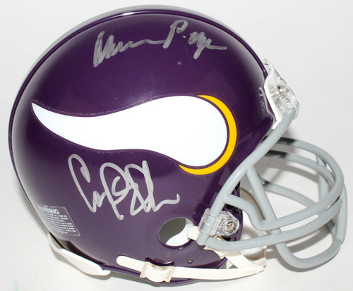 Minnesota Vikings Purple People Eaters Autographed NFL Football Mini-Helmet (Alan Page, Carl Eller, Jim Marshall, Gary Larsen)