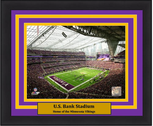 "Minnesota Vikings U.S. Bank Stadium NFL Football 8"" x 10"" Framed and Matted Photo"