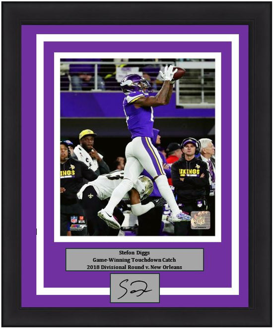 brand new ffcdb 87dac Minnesota Vikings Stefon Diggs Game-Winning Touchdown Catch, 2018  Divisional Round Engraved Autograph NFL Football 8