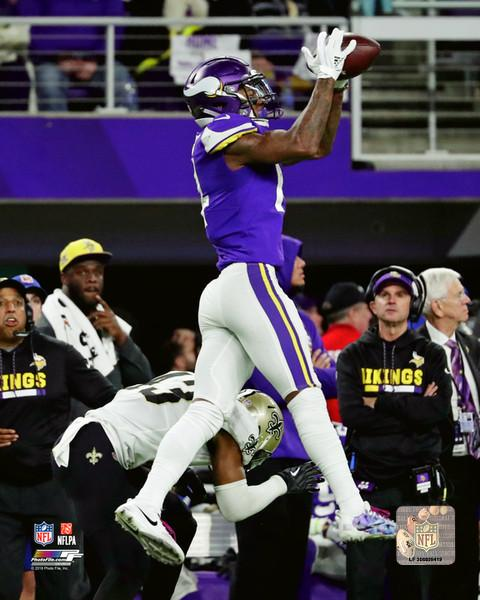 "Minnesota Vikings Stefon Diggs Game-Winning Touchdown Catch, 2018 Divisional Round NFL Football 8"" x 10"" Photo"