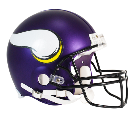 Minnesota Vikings Authentic NFL Full-Size Helmet - Dynasty Sports & Framing