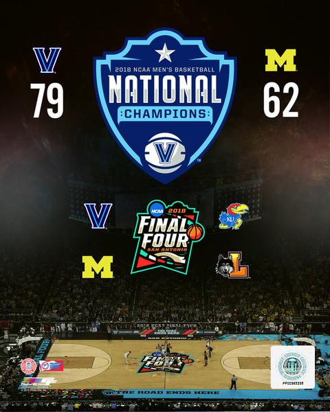 "Villanova Wildcats 2018 NCAA Tournament Final Four College Basketball 8"" x 10"" Photo"