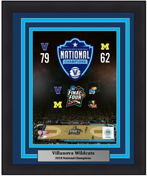 "Villanova Wildcats 2018 NCAA Tournament Final Four College Basketball 8"" x 10"" Framed and Matted Photo"