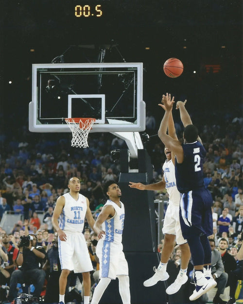 Villanova Wildcats 2016 NCAA Finals Kris Jenkins Buzzer Beater Basketball Photo (Vertical) - Dynasty Sports & Framing