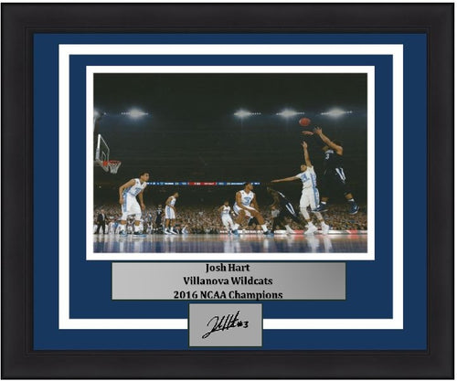 Josh Hart 2016 NCAA Finals Villanova Wildcats 8x10 Framed Basketball Photo with Engraved Autograph - Dynasty Sports & Framing
