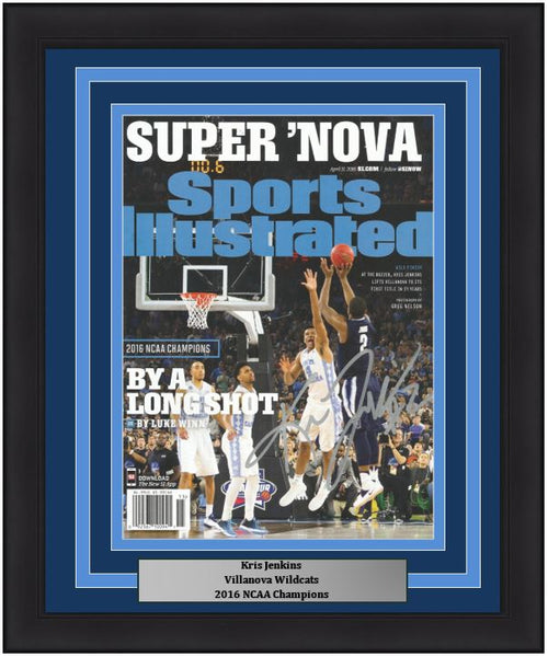Kris Jenkins Villanova Wildcats 2016 NCAA Champions Autographed College Basketball Framed Sports Illustrated Magazine