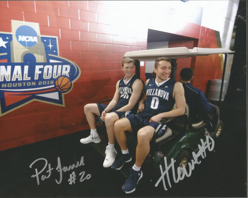 "Pat Farrell & Henry Lowe Villanova Wildcats 2016 NCAA Final Four Autographed College Basketball 8"" x 10"" Photo - Dynasty Sports & Framing"