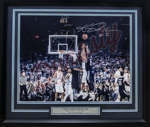 Kris Jenkins Villanova Wildcats '16 NCAA Champions Buzzer Beater Autographed Horizontal Framed Photo - Dynasty Sports & Framing