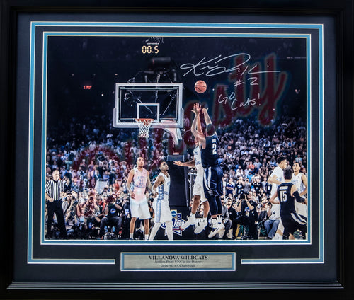 "Villanova Wildcats 2016 NCAA Champions Kris Jenkins/Henry Lowe Buzzer Beater Autographed College Basketball 16"" x 20"" Framed and Matted Photo"