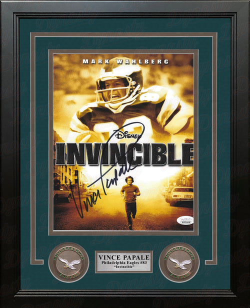 Vince Papale Invincible Philadelphia Eagles Autographed Framed Photo - Dynasty Sports & Framing
