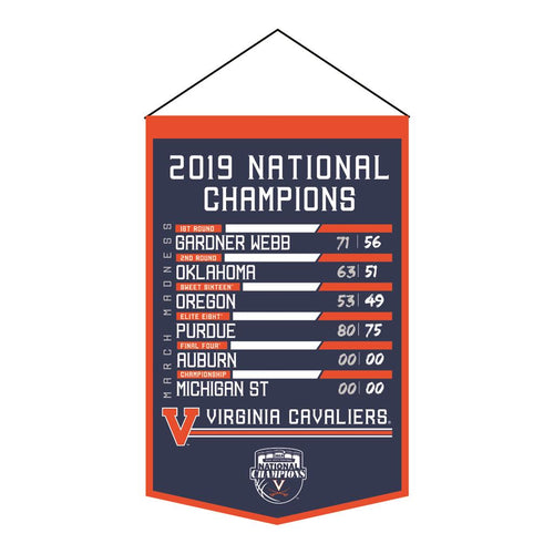 Virginia Cavaliers 2019 NCAA National Championship Printed Banner - Dynasty Sports & Framing