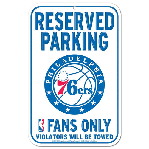 Philadelphia 76ers Parking Sign