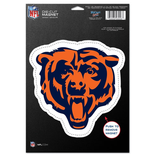 "Chicago Bears NFL Football 8"" Die-Cut Magnet - Dynasty Sports & Framing"