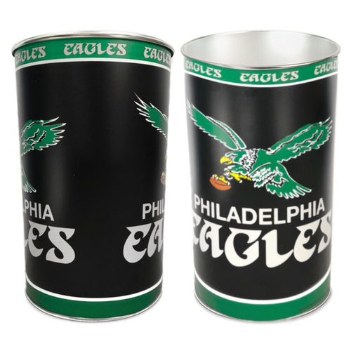 Philadelphia Eagles Throwback NFL Trash Can