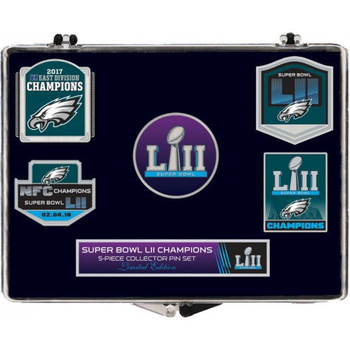 Philadelphia Eagles Super Bowl LII Champions Pin Set