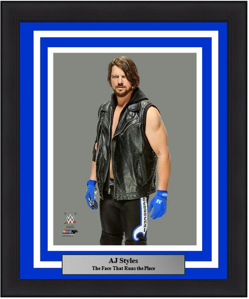 "WWE AJ Styles Wrestling 8"" x 10"" Framed and Matted Photo"